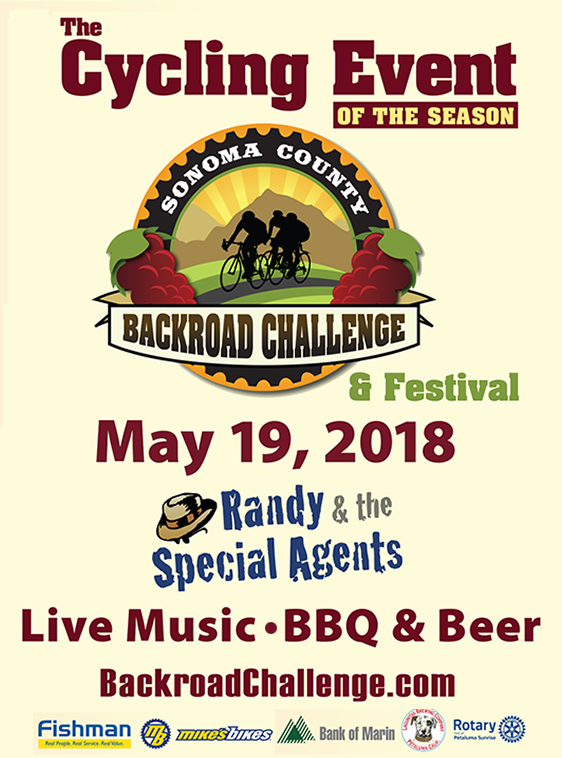 Sonoma County Backroad Challenge & Festival 2018 Flyer